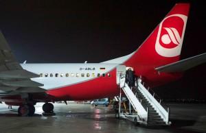 Air Berlin flyger mellan Berlin och Stockholm.