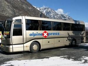 Alpine Express är ett av de bolag som kör flygbuss mellan Geneve och Verbier.