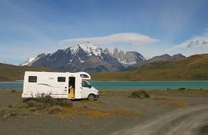 En av Andean Roads bilar i Patagonien.