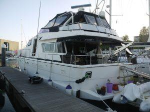 MY Angelisa är en rejäl båt.