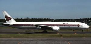 Thai flyger Boeing 777-300ER.