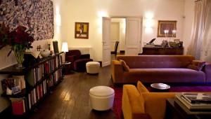 Det mysiga samlingsrummet på hotellet Buonanotte Garibaldi.