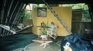 En av ekolodgerna på Chumbe.