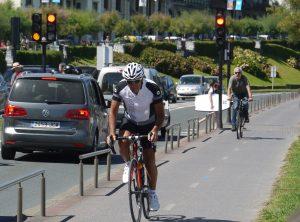 Cykel är ett bra transportmedel i San Sebastian.