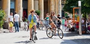 Cykel är ett populärt transportmedel i Warszawa.