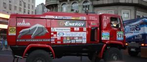 Den här lastbilen från Vitryssland ska köra sydamerikanska Dakarrallyt.