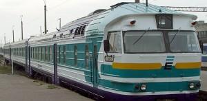 Sovjetiskt tåg i Estland.