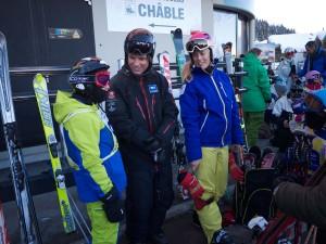 Carl och Emelie är två av European Snowsports duktiga svenska lärare.