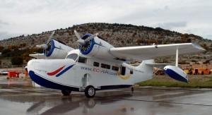 Denna klassiska Grumman Goose kommer säkert att locka flygentusiaster till Kroatien.