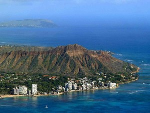 Aerial of Diamond Head