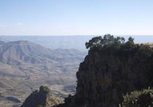 Utsikten från Hudad Lalibela är 360 grader, men tyvärr klarar inte mitt vidvinkelobjektiv det.