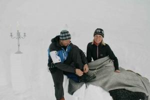 Övernattning i igloo på Åreskutan.
