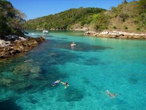 Läcker snorkling vid Ilha Grande.