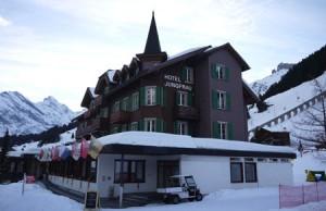 Hotel Jungfrau har perfekt läge.