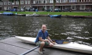 Kajak i Amsterdam.