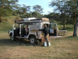 Safariutrustade jeepar går att hyra i Sydafrika.