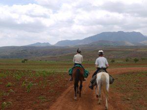 Bästa sättet att se det lilla bergslandet Lesotho är från hästryggen.