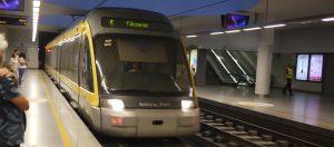 Modern och luftkonditionerad metro.