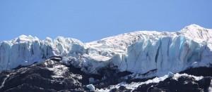 Glaciären på Mount Tronador.