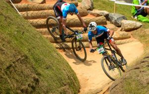 Mountainbikebanan i Rio testas inför OS.