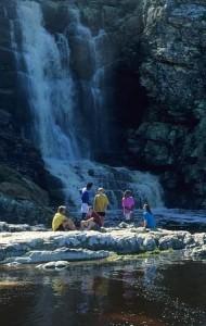 Naturlig dusch på Otter Trail.