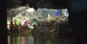 Phong Nha har en fin liten pool på baksidan och ljuvligt vackra risfält på framsidan.