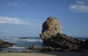 Här har det funnits människor i 50 000 år och de tog säkert också tillvara på de vilda ostron som växer på klipporna i havet.