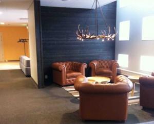 Ny och fräsch lounge i terminal 2 på Arlanda.