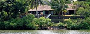 Riverview House  i Ambalangoda på västkusten ligger någon kilometer in i landet i mangroveskogen vid stranden av floden Madu Ganga