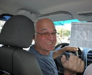 Vad är oddsen för att på gatan vinka till sig Buenos Aires mest omskrivna taxichaufför - Rodolfo Cutufia?
