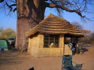 Tältcampen i Nye Nye i Namibia.