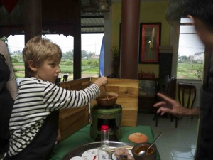 Matlagning hos mr. Tuan.