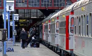 Veolias skidtåg från Malmö till Åre.