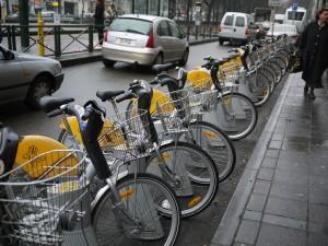 Hyrcykel i Bryssel.