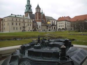 Slottet och katedralen Wawel.