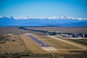Till och med flygplatsen är vacker i Bariloche.