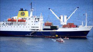 RMS St Helena går till Sankt Helena ett par gånger i månaden.